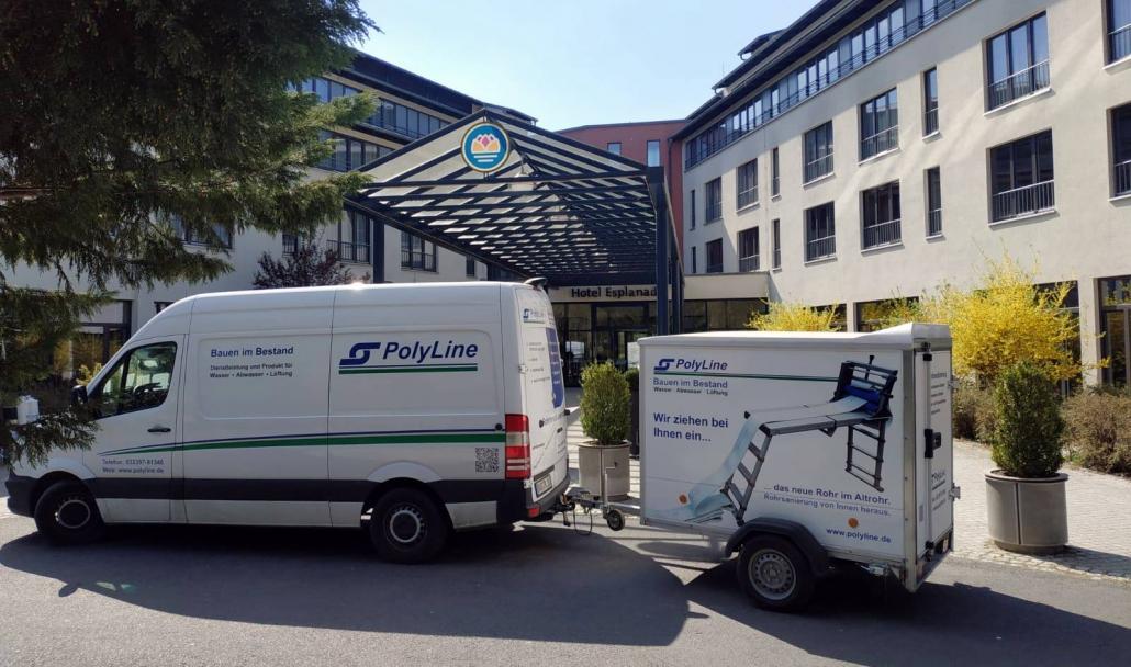 PolyLine Umwelttechnik GmbH Rohrsanierung RohrInnenSanierung SchlauchLiner-Verfahren Hotel Esplanade Bad Saarow Schmutzwasserleitungen Sammelleitungen grabenlose Rohrinstandsetzung