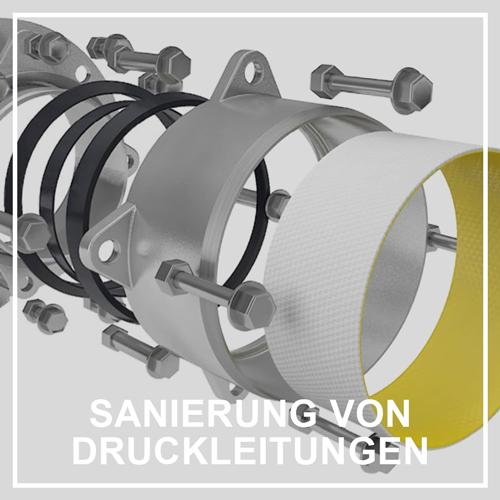 PolyLine Versorgungstechnik GmbH Druckleitungen sanieren Druckrohr erneuern Rohr-In-Rohr-System
