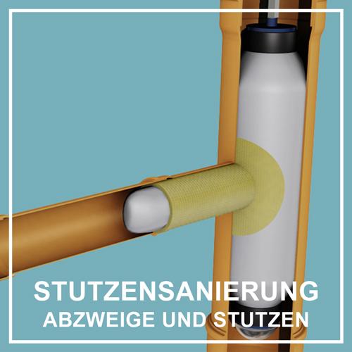 PolyLine Umwelttechnik GmbH Stutzensanierung Rohrabzweig sanieren SchlauchLiner Abwasserleitung sanieren